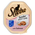 Sheba Tray Tender Pieces in Jelly with Salmon