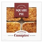 Square Pie BBQ Bourbon Beef Mini Pies
