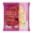 2 Large Garlic & Coriander Naan Breads Waitrose