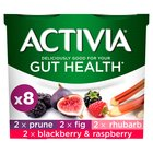 Activia Prune, Fig, Rhubarb, Raspberry & Blackberry Yogurts