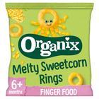 Organix Finger Foods Organic Crunchy Sweetcorn Rings