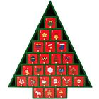 Christmas Wooden Advent Calendar Tree