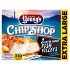 Young's Crispy Bubbly Battered Extra Large Chip Shop 2 Fish Fillets Frozen