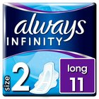 Always Infinity Long Plus Sanitary Towels with Wings